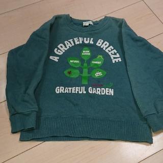 サンカンシオン(3can4on)のサンカンシオン トレーナー 緑 110(Tシャツ/カットソー)
