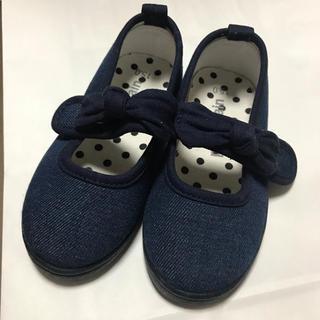 petit main - 間も無く処分 プティマイン 靴 デニム 15センチ