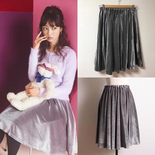 トッコ(tocco)のtocco closet♡ウエストタックベロアスカート(ひざ丈スカート)