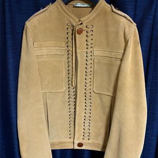 バレンシアガ(Balenciaga)の最終値下バレンシアガ スエードレザージャケット サイズ48(レザージャケット)