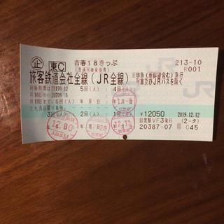 青春18きっぷ(鉄道乗車券)