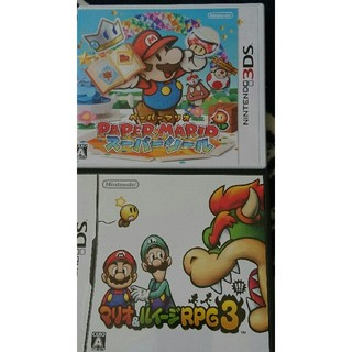 ニンテンドーDS(ニンテンドーDS)のペーパーマリオスーパーシール マリオ&ルイージRPG3!!!(携帯用ゲームソフト)