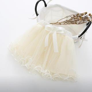 お値下げ中!新品未使用♡フリルスカート ベージュ100(スカート)