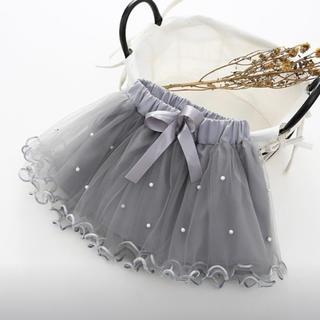 お値下げ中!残り一点!新品未使用♡フリルスカート grey ベビー70(スカート)