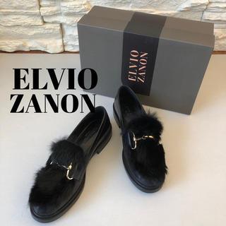 スコットクラブ(SCOT CLUB)の新品2.3万★ELVIO ZANON ビット付きローファー ラビットファー付き(ローファー/革靴)