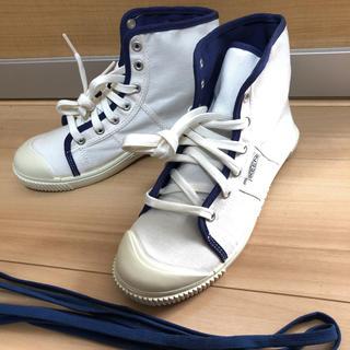 KEEN - KEEN ハイカット スニーカー 白✕青 替え紐付き 新品