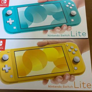 ニンテンドースイッチ(Nintendo Switch)のNintendo Switch lite ターコイズ イエロー 新品・未使用(家庭用ゲーム機本体)