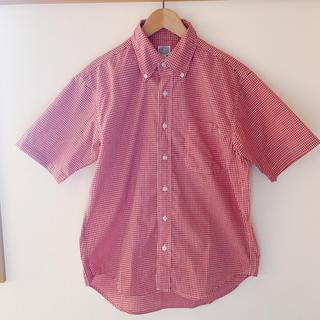 半袖シャツ ギンガムチェック 赤(シャツ/ブラウス(半袖/袖なし))