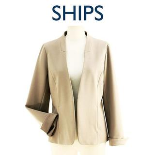 シップス(SHIPS)の新品-M- SHIPS シップス ノーカラーストレッチ803700036(ノーカラージャケット)