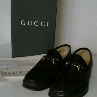 グッチ(Gucci)のGUCCI ダークブラウン ローファ(ローファー/革靴)