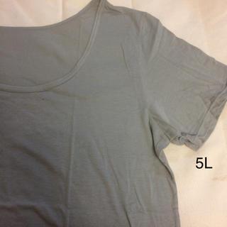 大きいサイズ  Tシャツ  グレー(Tシャツ(半袖/袖なし))