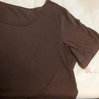 大きいサイズ  Tシャツ  ブラウン(Tシャツ(半袖/袖なし))