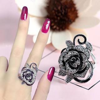 新品♥フラワーリング/ピンクゴールド/ローズモチーフ/薔薇/可愛い(リング(指輪))