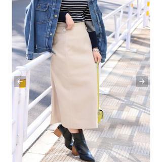 イエナ(IENA)のIENA タブ付きミッドカーフスカート 38新品(ロングスカート)