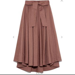 ミラオーウェン(Mila Owen)のミラオーウェン ベルト付タックフレアスカート(ロングスカート)