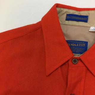ペンドルトン(PENDLETON)の極美品 サイズL pendelton ペンデルトン ウールシャツ 無地(シャツ)