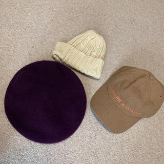 センスオブプレイスバイアーバンリサーチ(SENSE OF PLACE by URBAN RESEARCH)のベレー帽、ニット帽、キャップ3点セット(ハンチング/ベレー帽)