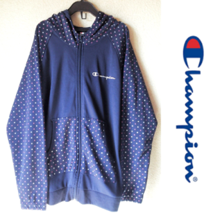 チャンピオン(Champion)のChampion/ロゴ刺繍 薄手ジップアップパーカー(ジャケット/上着)