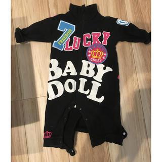 ベビードール(BABYDOLL)のbaby doll  黒 ロンパース(ロンパース)