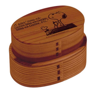 ピーナッツ(PEANUTS)のPEANUTS スヌーピー  曲げわっぱ 弁当箱 2段 新品(弁当用品)