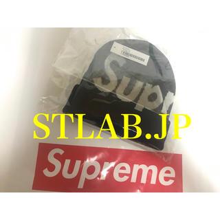 シュプリーム(Supreme)の黒 19AW Supreme Big Logo Beanie ビッグロゴ ビーニ(ニット帽/ビーニー)