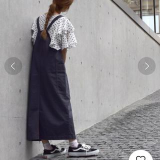 ダブルクローゼット(w closet)のw closet 配色ステッチエプロンジャンスカ ジャンパースカート スカート (サロペット/オーバーオール)