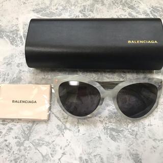 バレンシアガ(Balenciaga)の新品未使用 バレンシアガ ホワイト大理石柄 サングラス(サングラス/メガネ)