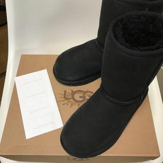 アグ(UGG)のUGG キッズブーツ 19cm 黒 美品(ブーツ)