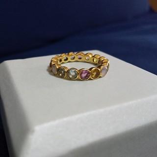☆天然石☆ レインボーカラー エタニティリング(リング(指輪))