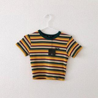 ミックスエックスミックス(mixxmix)のボーダークロップドTシャツ(Tシャツ(半袖/袖なし))