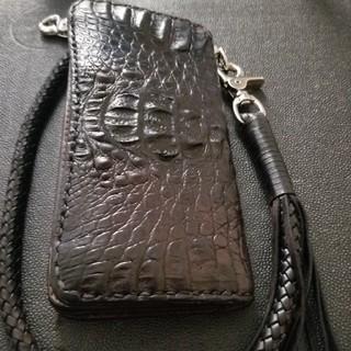 トチギレザー(栃木レザー)の栃木レザークロコダイル革、長財布、最終値引き(長財布)