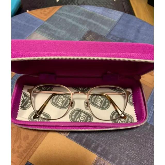 Zoff(ゾフ)のZoff♪人気のメタルフレームメガネ♪お値下げしました! レディースのファッション小物(サングラス/メガネ)の商品写真