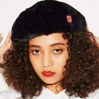 エックスガール(X-girl)のXgirlもこもこベレー帽(ハンチング/ベレー帽)