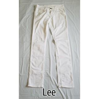 リー(Lee)のLee ライダース ストレッチ カラーパンツ ホワイト XS 美品(カジュアルパンツ)