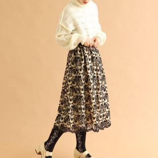 プープレ(peu pres)のプープレpeu pres こけもも刺繍チュールスカート(ロングスカート)
