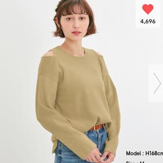 ジーユー(GU)のGU カットアウトセーター(長袖)(ニット/セーター)