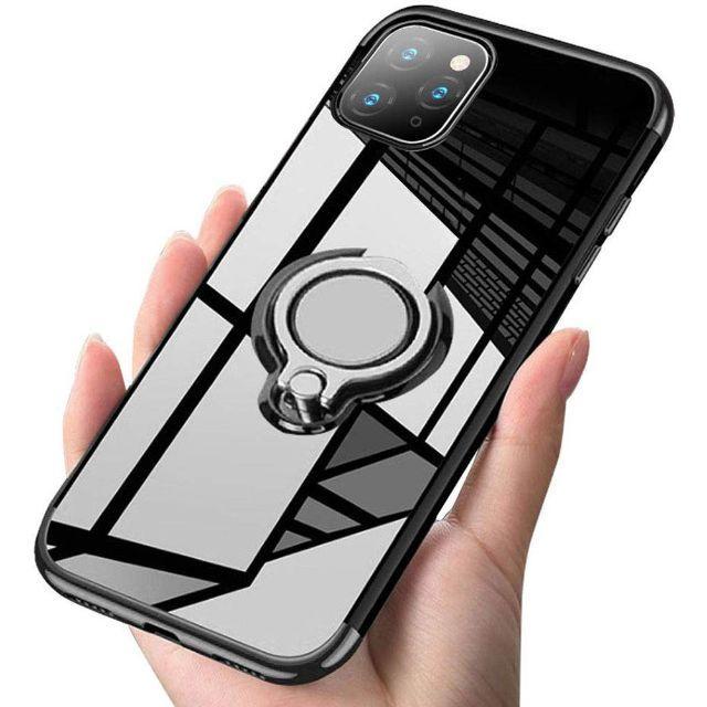 iPhone 11Pro黒 スマホリング付きケース+フィルム スマホ/家電/カメラのスマホアクセサリー(iPhoneケース)の商品写真