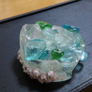 海の宝石 シーグラスのペーパーウェイト2(その他)