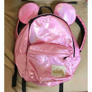 Disney - ディズニーリゾート ラメ ピンク 耳付きリュック