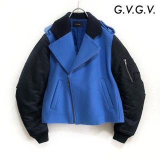 ジーヴィジーヴィ(G.V.G.V.)のG.V.G.V. ジーヴィジーヴィ★ライダースジャケット MA-1 袖切替(ライダースジャケット)