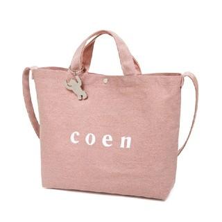 コーエン(coen)のCoen ピンクトートバック 新品未使用送料無料(トートバッグ)