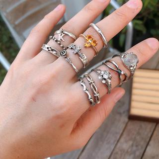 ヴィンテージリング✧天然石✧シルバー✧バラ売り(リング(指輪))