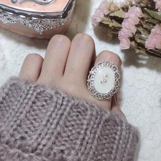 vintage rose ring  【White】(リング)