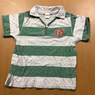 エーアーベー(eaB)のエーアーベー グレーミドリボーダーtシャツ(Tシャツ/カットソー)