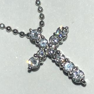 純プラチナ クロス 十字架 ダイヤモンド ペンダント ネックレス pt1000(ネックレス)