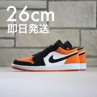 ナイキ(NIKE)の26cm AIR JORDAN 1 LOW orange オレンジ(スニーカー)