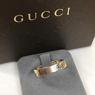 グッチ(Gucci)のGUCCI グッチ K18 ホワイトゴールド リング 指輪(正規箱付き)(リング(指輪))