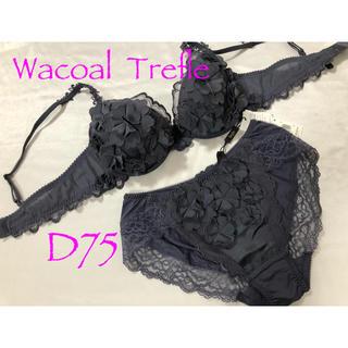 ワコール(Wacoal)の【新品】ワコール トレフル 38グループ D75&L(ブラ&ショーツセット)