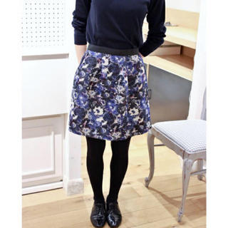 IENA SLOBE - イエナ フラワージャガードスカート
