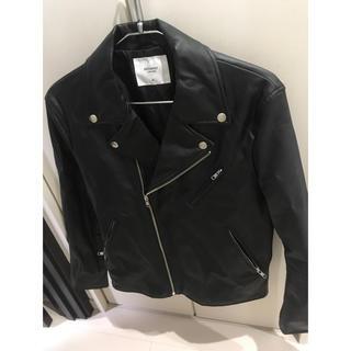 ウィゴー(WEGO)の【A_yan様専用】ライダースジャケット ブラックand茶色2点セット(ライダースジャケット)
